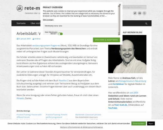 Arbeitsblatt: Verdauungssystem des Menschen - rete-mirabile.net ...