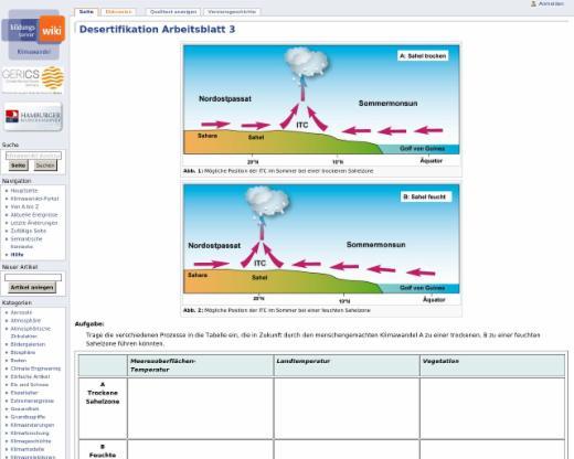 Desertifikation Arbeitsblatt 3 – Klimawandel | edutags