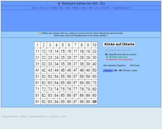 Mathematik | Römische Zahlen | lernen & üben | Online-Übungen ...