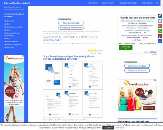 Gratis Bewerbungsvorlagen Kostenlos Downloaden Jobs Und