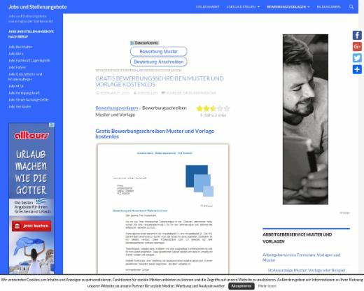 Gratis Bewerbungsschreiben Muster Und Vorlage Kostenlos Jobs Und