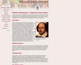 william shakespeare biographie - Shakespeare Lebenslauf
